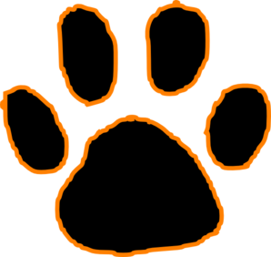 tiger paw pictures black tiger paw print with orange outline clip rh pinterest com clemson tiger paw clipart tiger paw print clipart