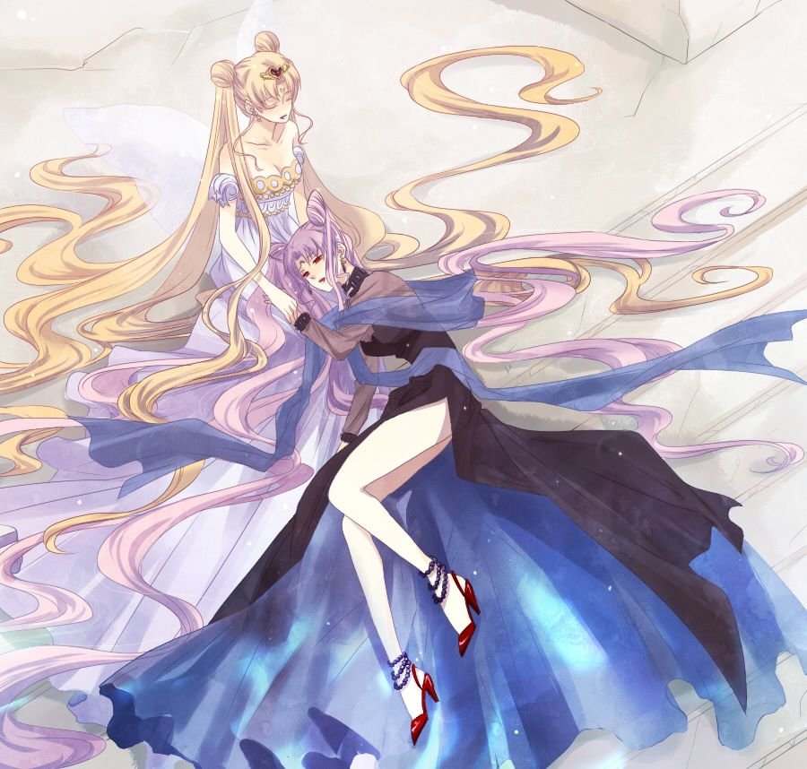 Princess Serenity And Black Lady Sailor Moon The Sailor