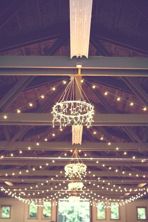 Hula Hoop Chandelier And Party Lights Wedding Ideas