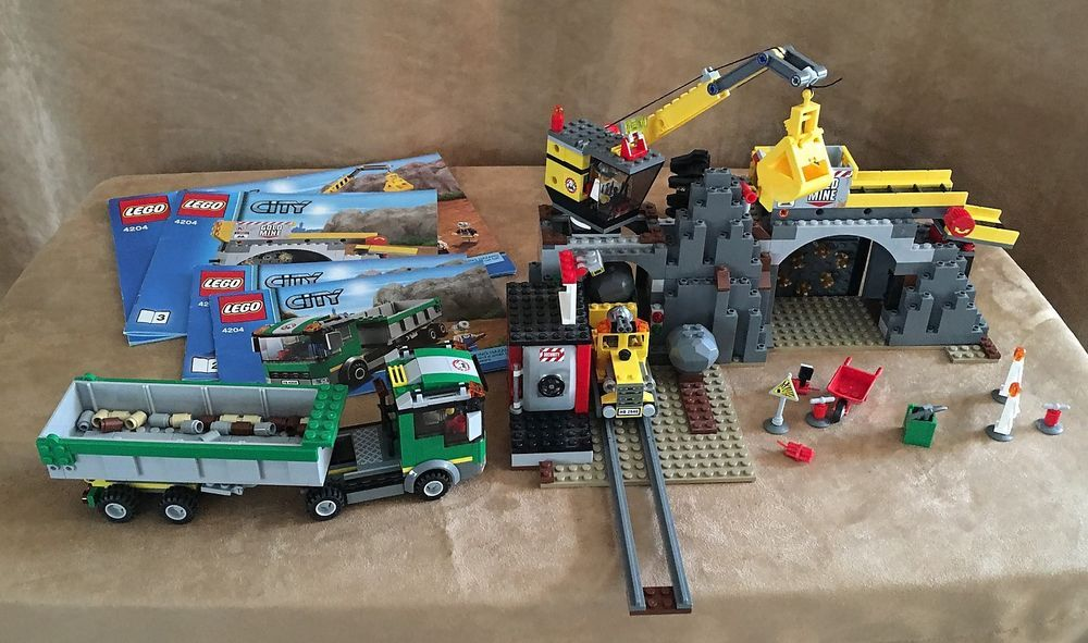 4204 Lego Complete Instructions City The Mine Construction Site