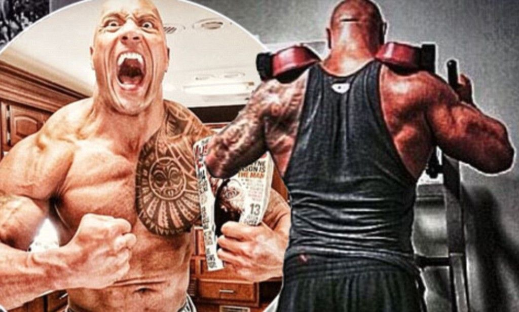 Dwayne Johnson hits the gym...after 22 hour flight to