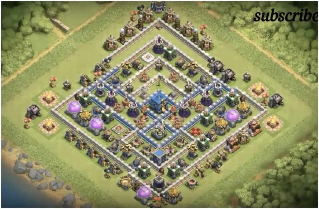 TH12 War Base & Trophy Farming Base Layouts | Cool | Trophy