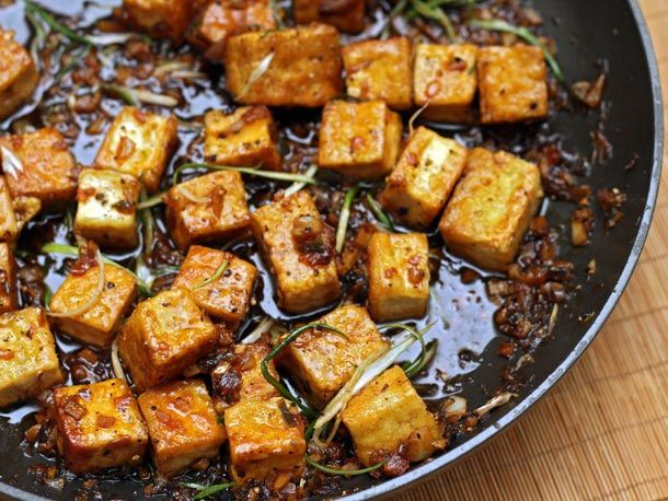Black Pepper Tofu. I chose the vegetarian option at a wedding once and was served a luscious tofu bourguignon. Ever since it's been my favourite way to eat tofu: cooked in a rich sauce (red thai coconut curry sauce is my usual go-to). Since I'm essentially a black pepper addict, this looks right up my alley.  Source: Adapted recipe (original by Yotam Ottolenghi) and image by Blake Royer for Serious Eats