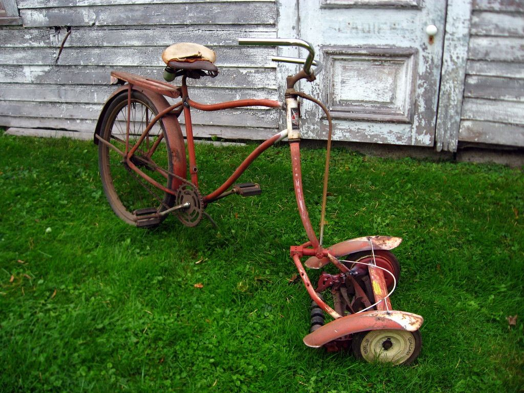 Lawn mower bike | Bicycles and Rides | Pinterest | Lawn ...