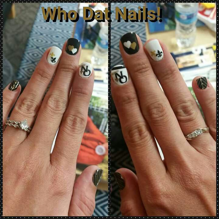 New Orleans Saints nail art | My New Orleans Saints Diva Den ...