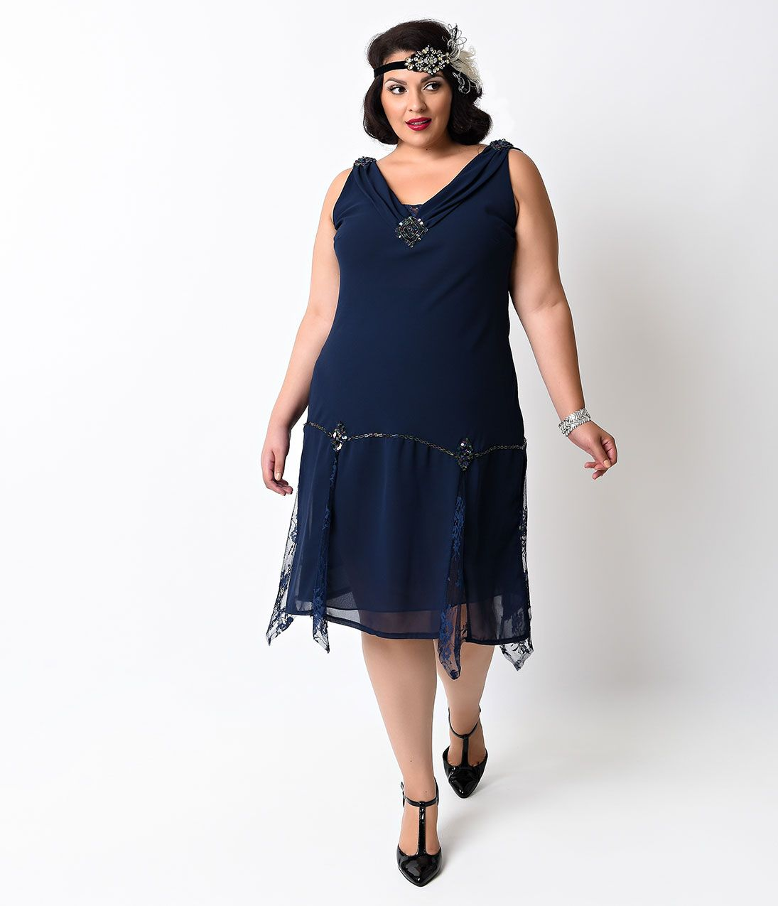 Shop 1920s Plus Size Dresses and Costumes | Unique vintage ...