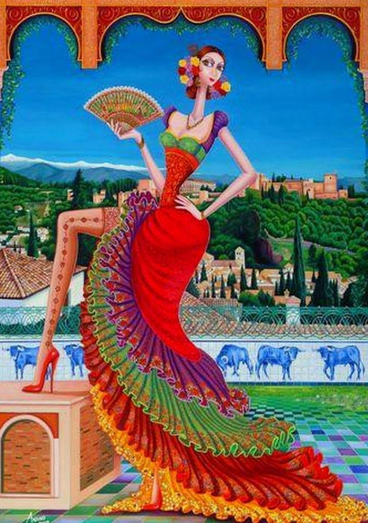 cuadros-modernos-de-mujeres-españolas | Carlos Andino | Pinterest ...