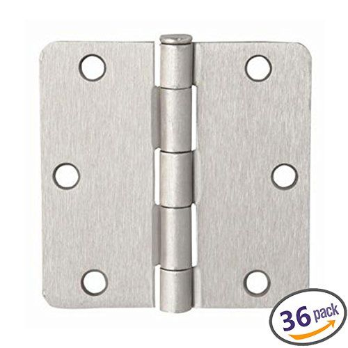 Dynasty Hardware 31 2 Door Hinges 1 4 Radius Corner Satin Nickel 36 Pack Want Additional Info Click On T Hardware Frameless Shower Doors Bidet Attachment