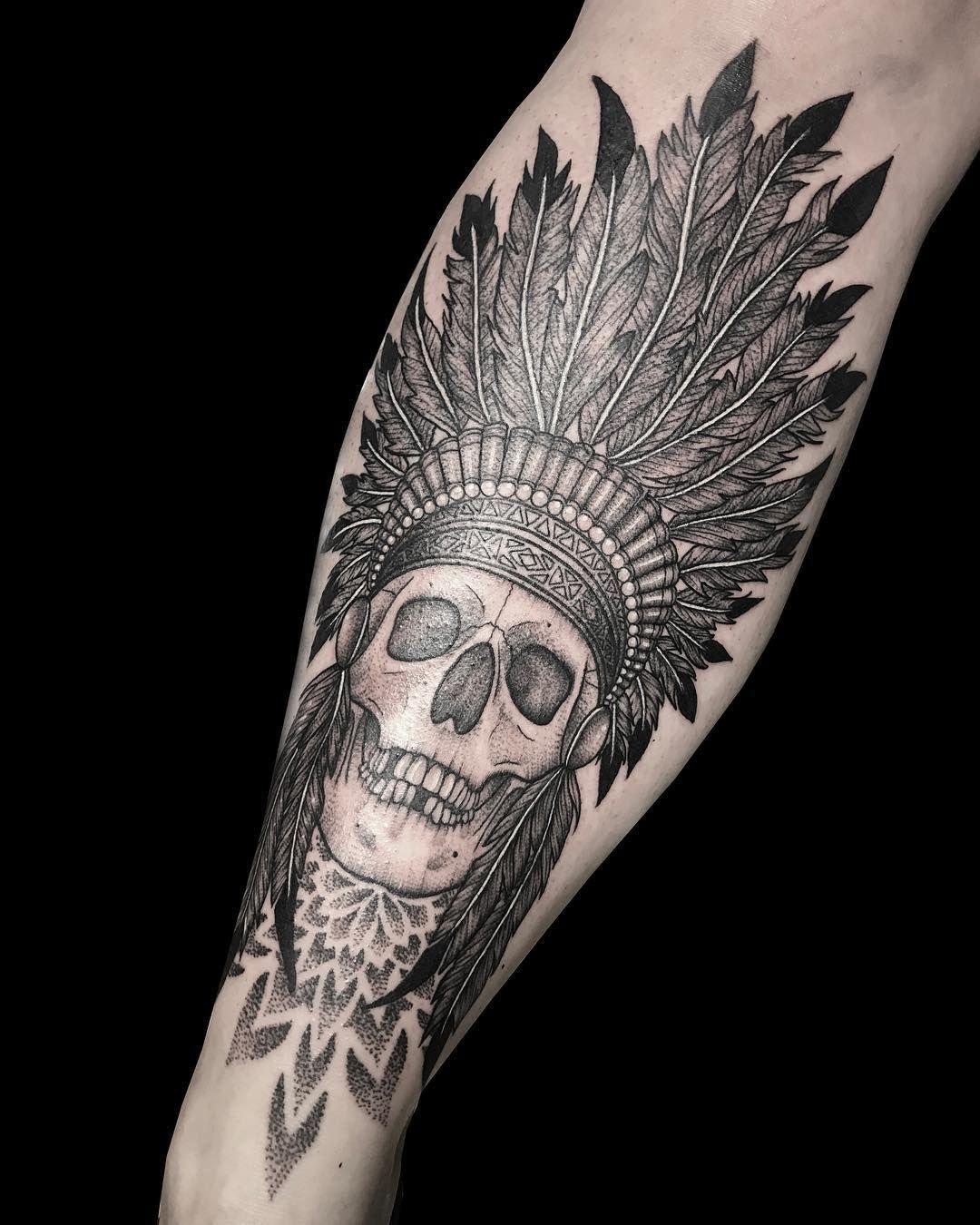 The Monumental Ink Tattoo Artists Indian skull tattoos