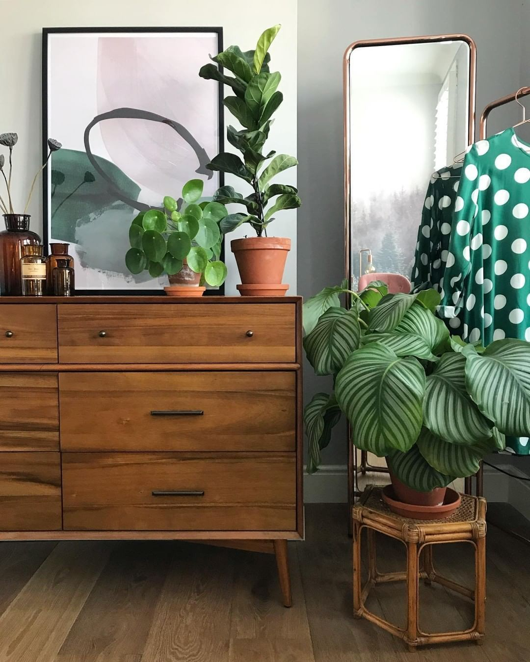 West Elm Furniture Decor On Instagram Bring Your Wardrobe To Life With The Fairtradecertified Mid Century 6 Drawer Dresser And Dresser Drawers 6 Drawer Dresser Plant Decor