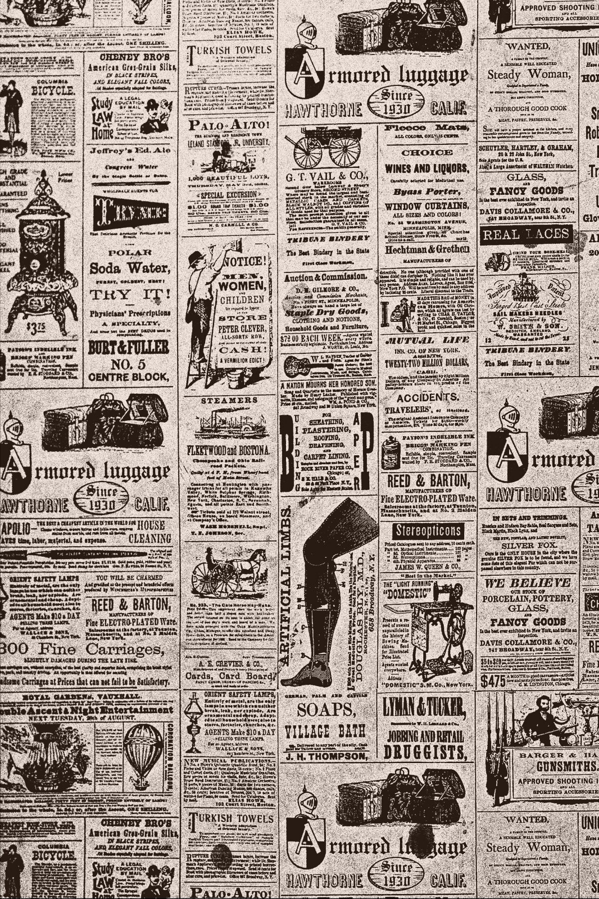 Vintage Newspaper Background Tumblr