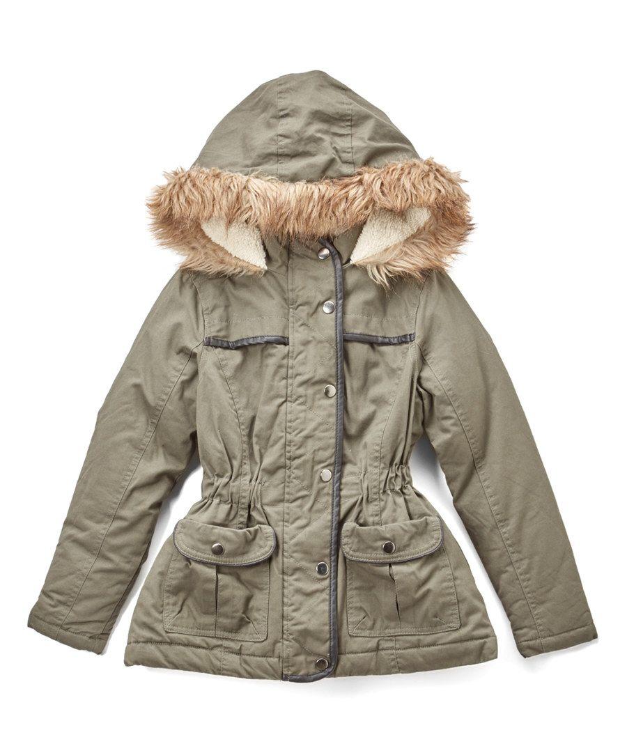 Look At This Yoki Olive Faux Fur Hooded Jacket Girls On Zulily Today Faux Fur Hooded Jacket Girls Jacket Hooded Jacket [ 1081 x 900 Pixel ]