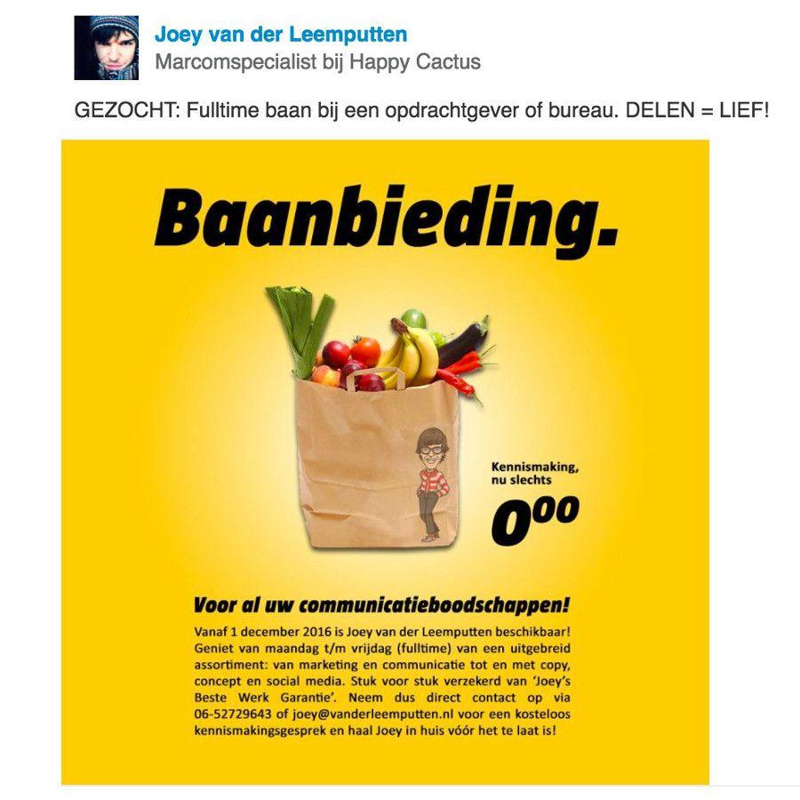 sollicitatie bureau Sollicitatie oproep van Joey van der Leemputten op LinkedIn. Check  sollicitatie bureau