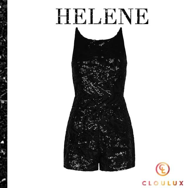 Helene Fischer in einem schwarzen Bühnenoutfit mit ...