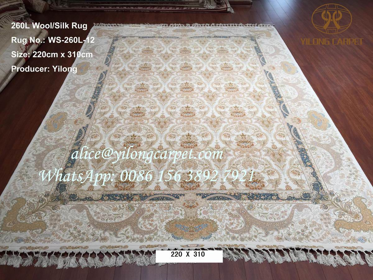 Handmade silk rug is from Yilong carpet factory.