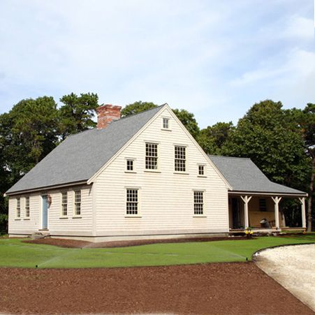 Cape cod saltbox style house house plan 2017 for Two story cape cod