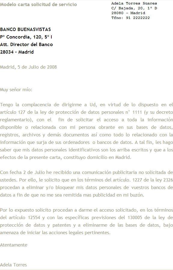 Modelo-carta-solicitud | Modelos de email | Pinterest
