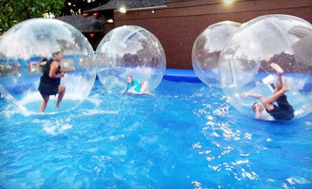Two Four Or Six Hamster Ball Rides At Water Ball Entertainment Up To 58 Off Pool Floats Water Fun Pool