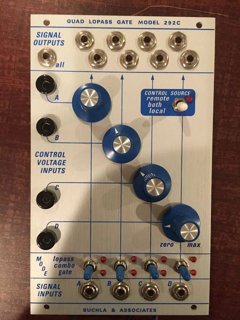 Buchla 292c Quad Low Pass Gate Synthesizer Music Sequencer Eurorack