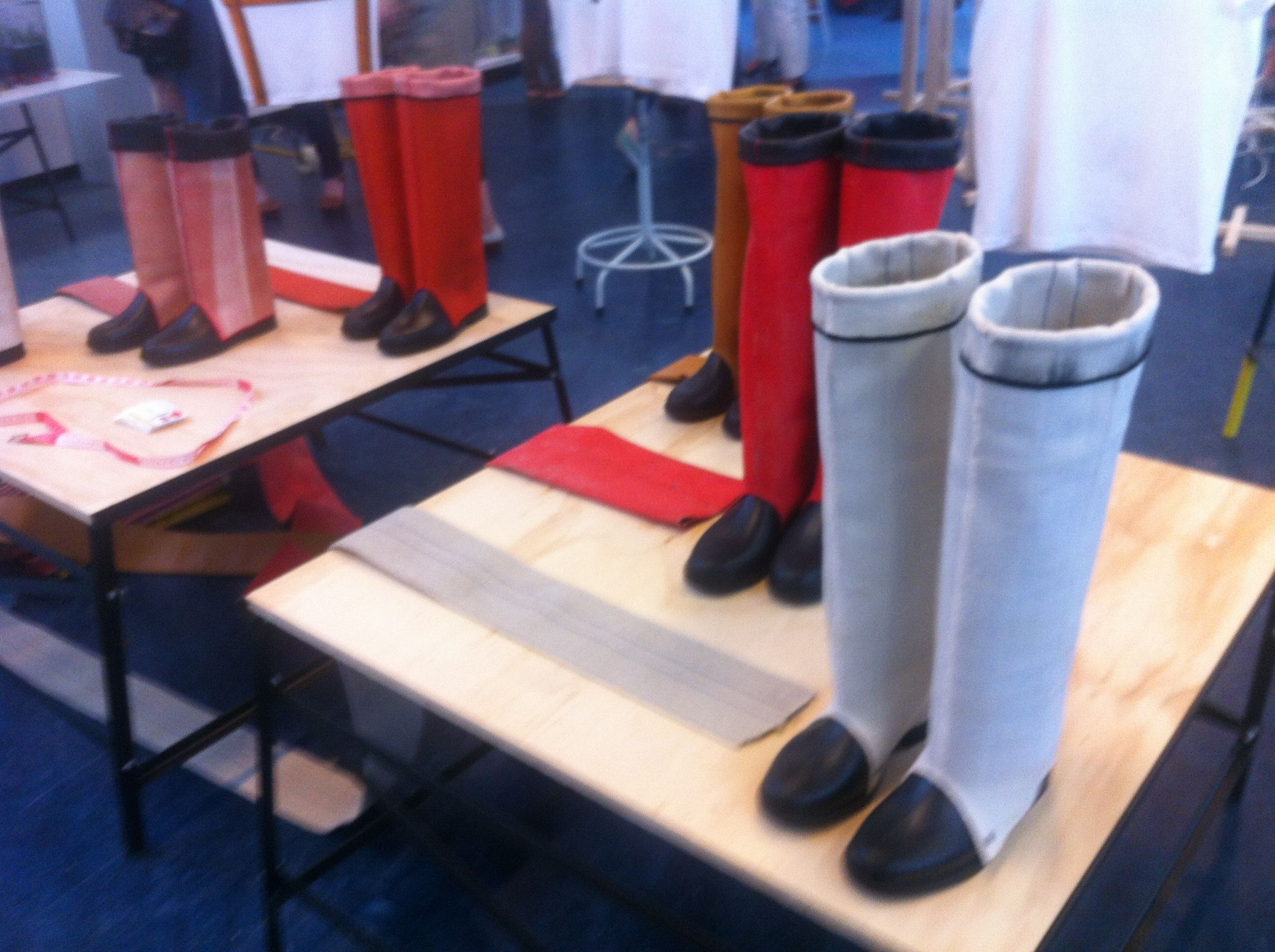 Fire hose boots by Doriankoelmans.com