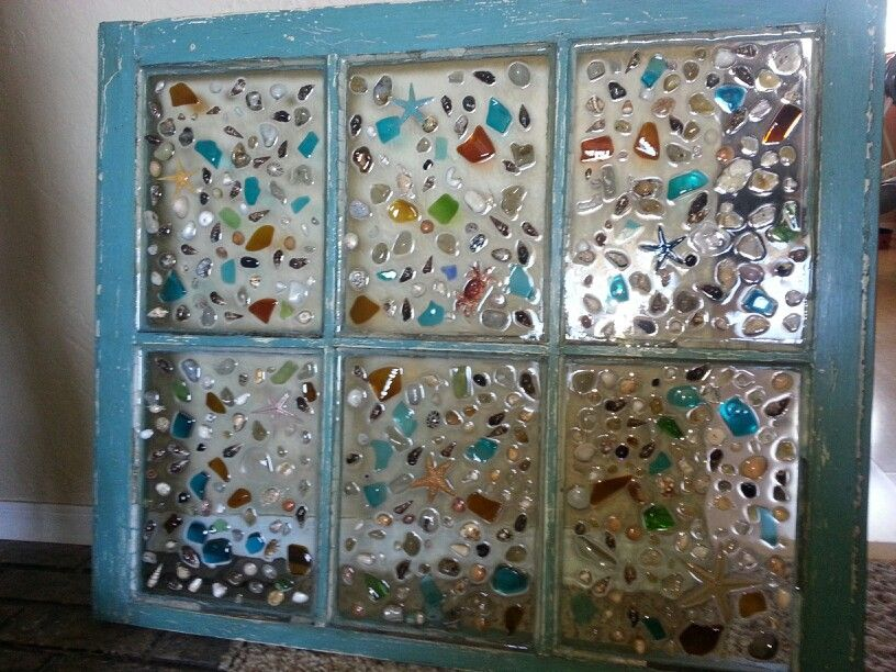 Pin inspiration Old Windowresin Shells And Sea Glass