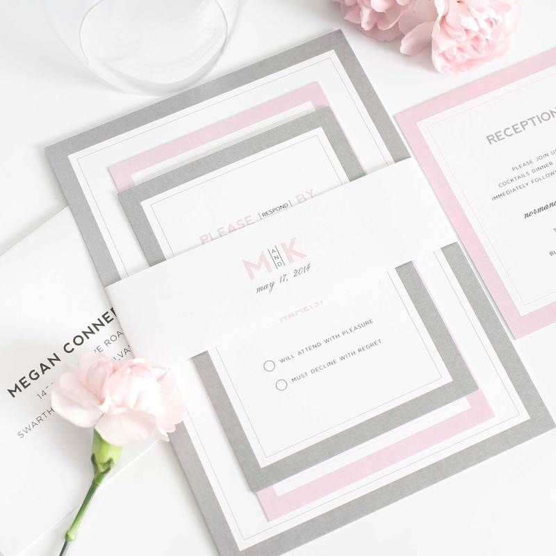 A Delicate Script Font Forms The Basis Of This Clean Simple And Timeless Wedding Invitation Shown In Black With Our Hydrangea Envelope Liner Solid