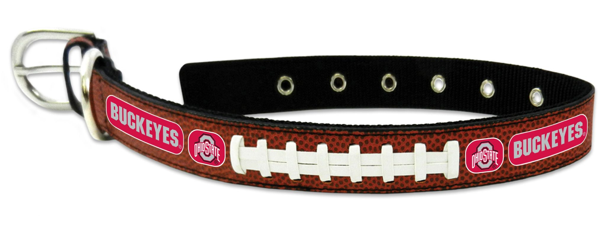 GameWear Chicago Bears Leather Football Lace Dog Collar Small to Large