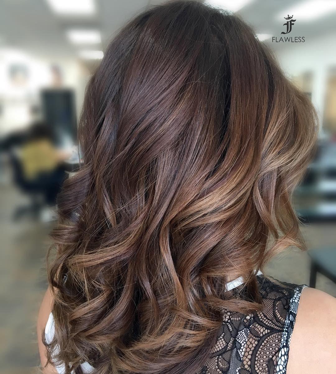 Balayage brown hair color