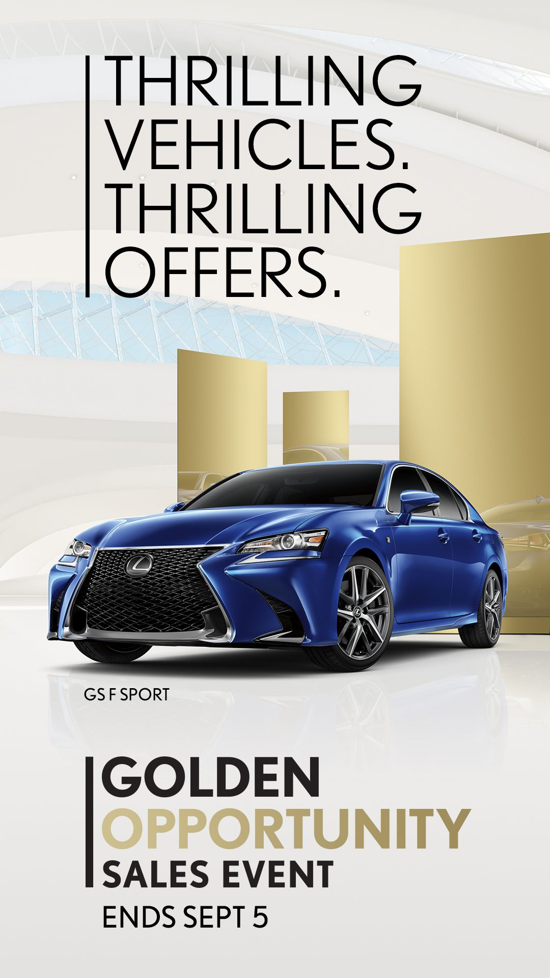 Golden Opportunity Sales Event Going On Now At Lexus Dominion