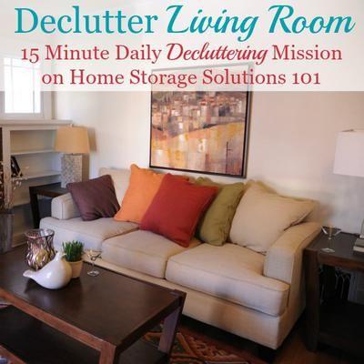 How to declutter your living room declutter living rooms and storage for How to declutter your living room