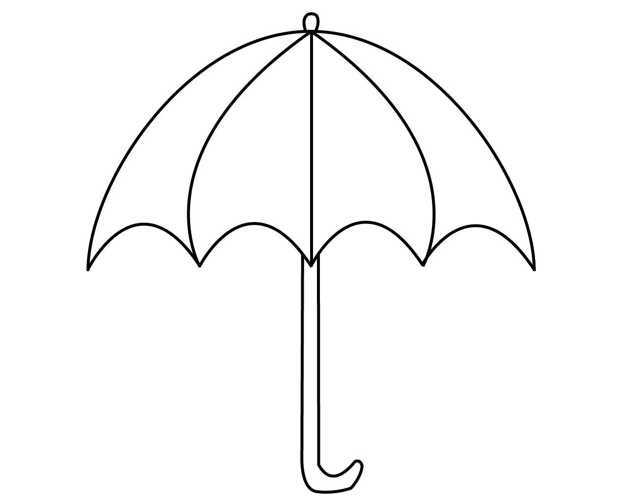 Umbrella Coloring Pages For Your Little Ones Umbrella Coloring