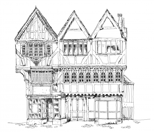 do you like this amazing medieval tudor house coloring page why dont you
