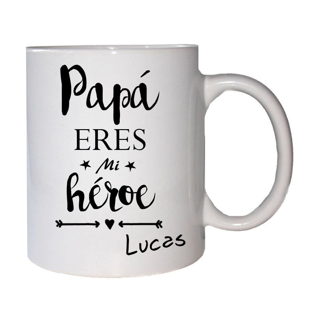 Taza personalizada d a del padre con mensaje mol n y - Regalos originales para mi padre ...