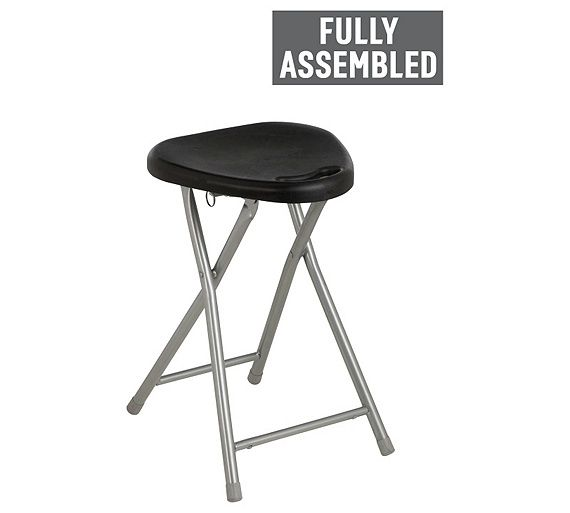 Outstanding Buy Simple Value Black Folding Single Stool At Argos Co Uk Onthecornerstone Fun Painted Chair Ideas Images Onthecornerstoneorg