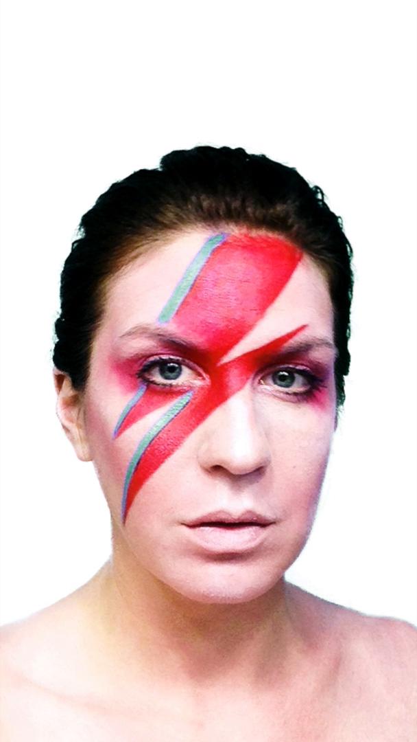 Ziggy Stardust Makeup Rainbow
