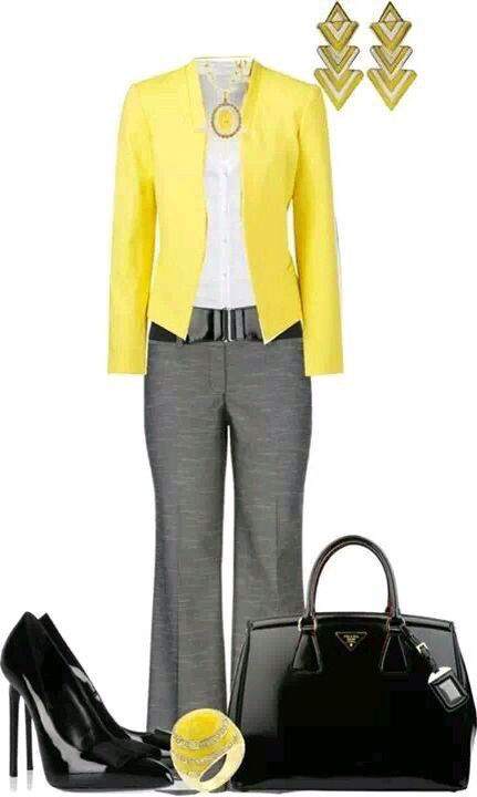 outstanding outfit oficina gris 8