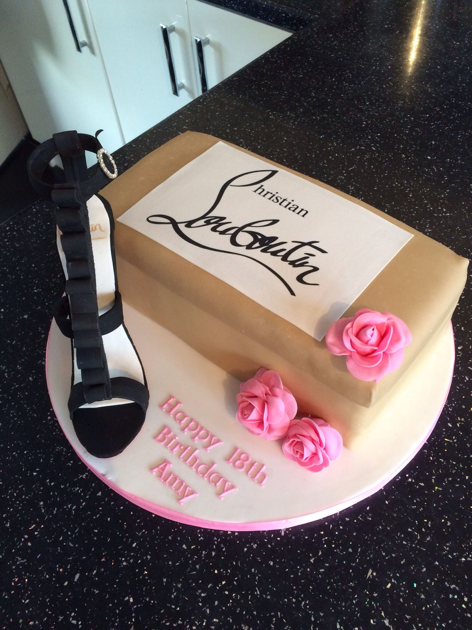 Christian Louboutin Shoe 18th birthday cake bday cake Pinterest