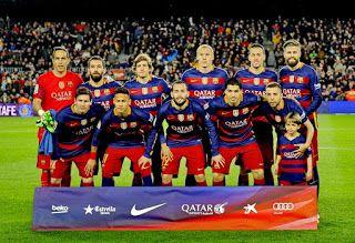 EQUIPOS DE FÚTBOL: F. C. BARCELONA 2015-16 contra Sevilla