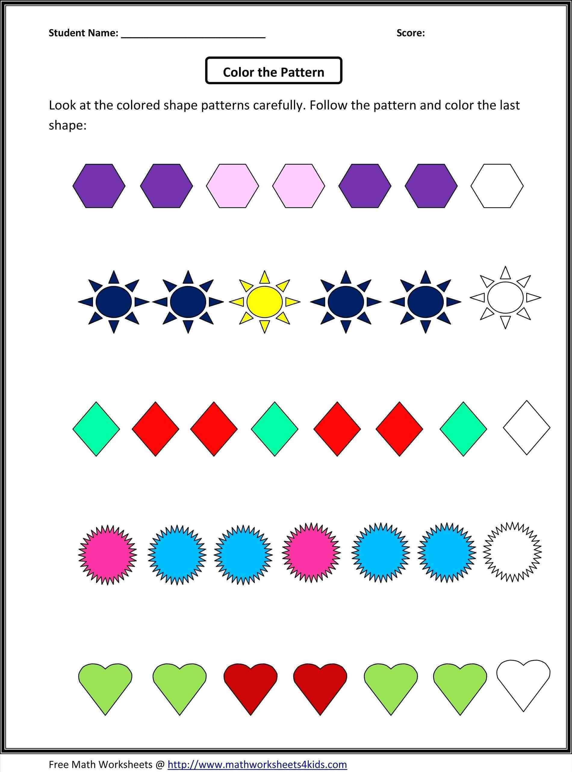 3rd Grade Math Patterns Activities