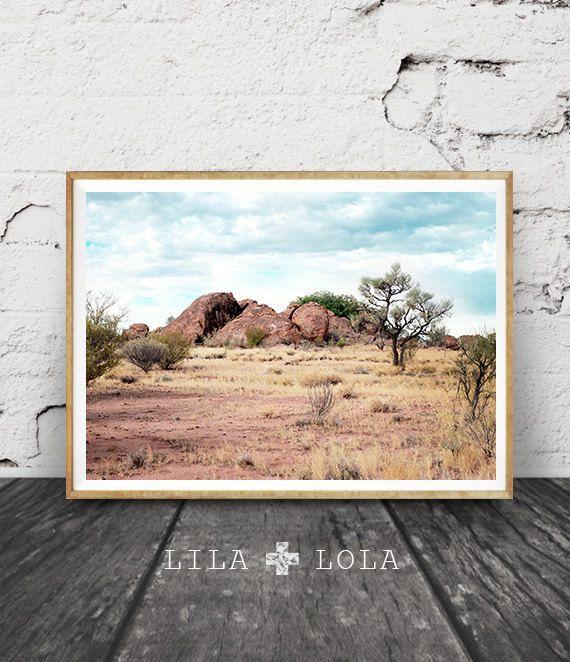 Desert Landscape Wall Art Print Australian Outback Colour Photography Country Australia Printable Digital Download Australiana Wall Art Prints Landscape Wall Art Art Prints