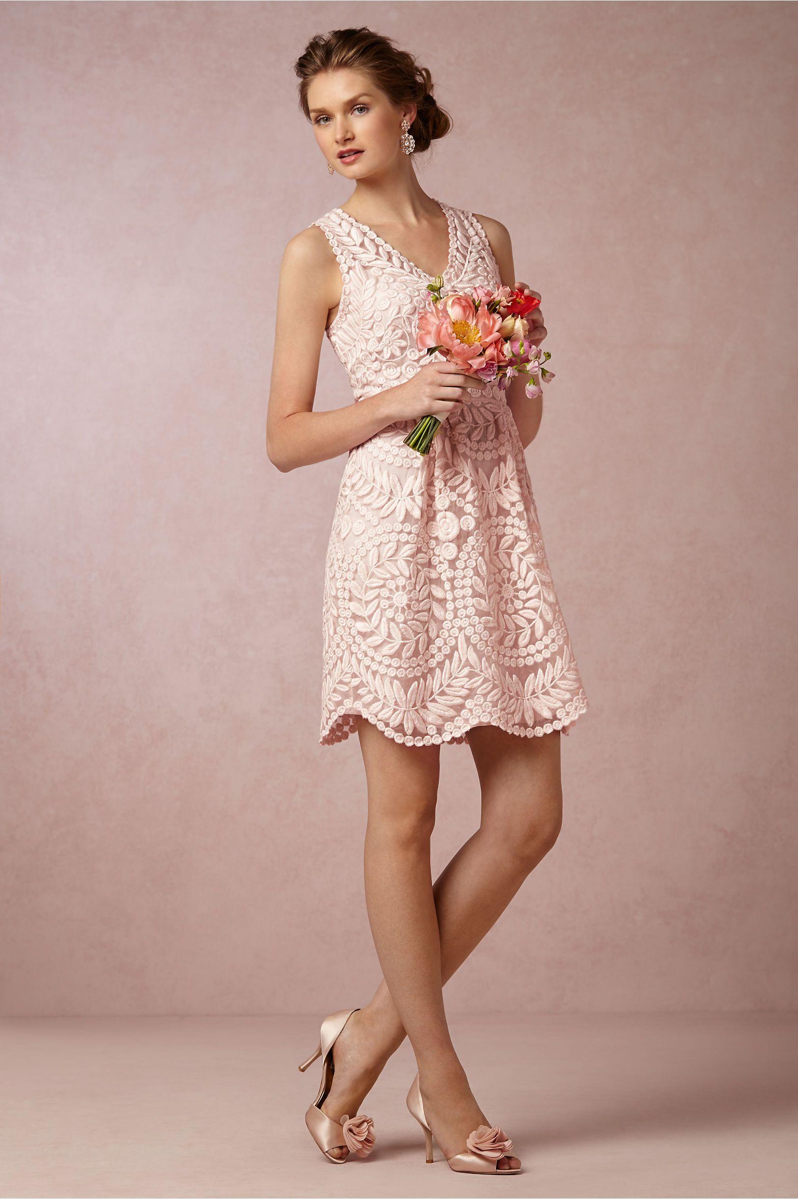 Sienna Bridesmaids Dress in blush from BHLDN | Summer Wedding Ideas ...