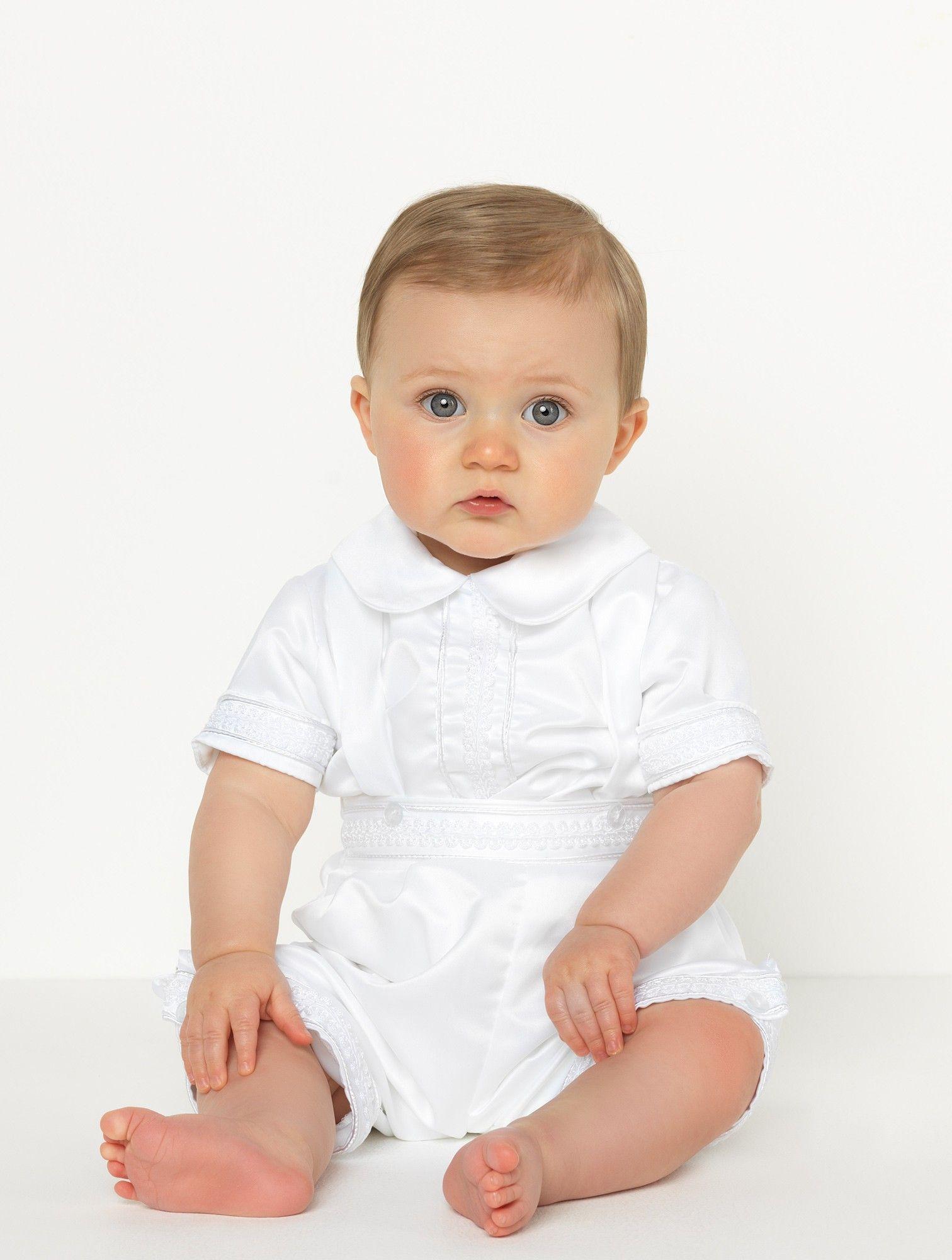 Baby boys white romper - Blake | spp | Pinterest | Christening ...