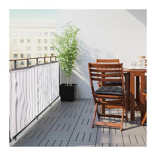 DYNING Vind/sol læskærm, hvid hvid 250x80 cm