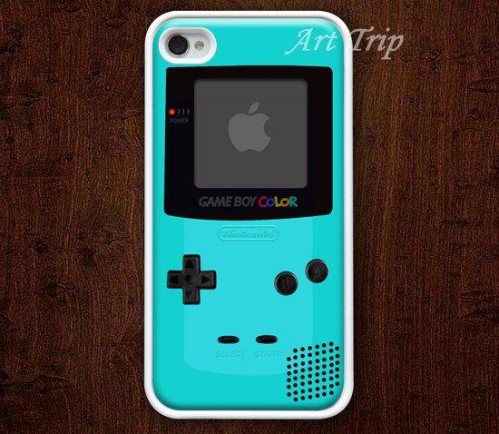 Gameboy iphone case, iphone 4 case --  iPhone 4 Case, iphone 4s case, blue gameboy, SALE. $7.99, via Etsy.