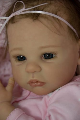Reborn Doll Baby Girl Shannon By Ann Timmerman Brown Hair Dark
