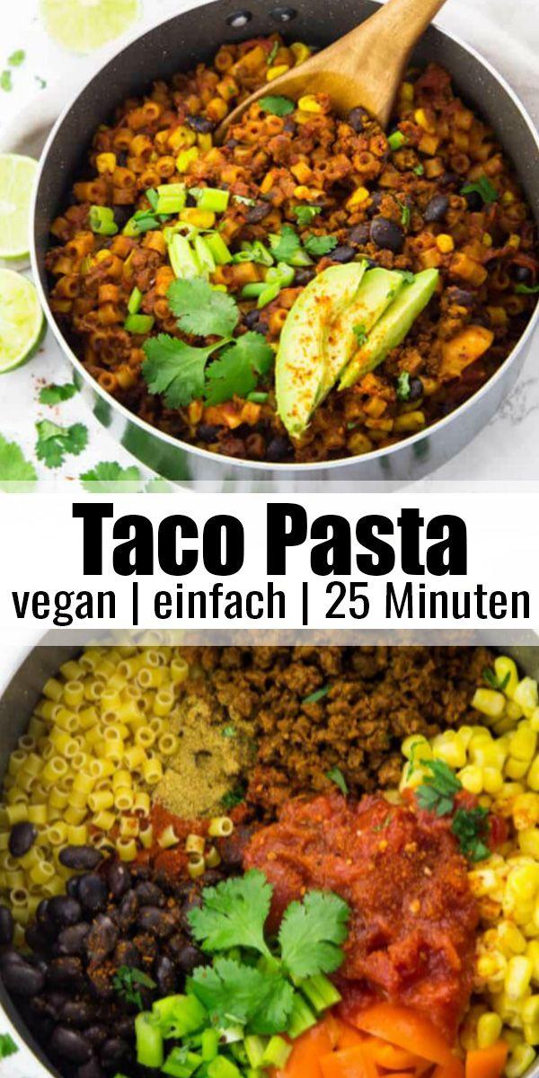 Schnelle Taco Pasta  #vegetariandish