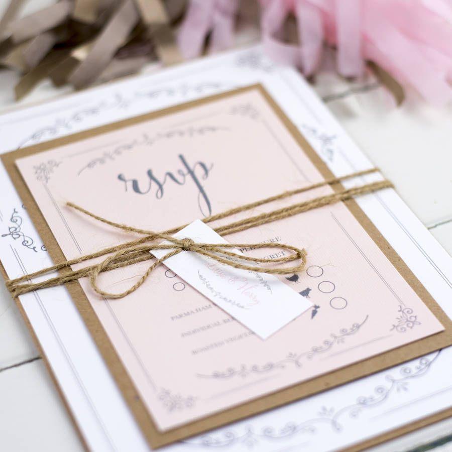 Vintage Flourish Wedding Invitation | Wedding stationery and Weddings