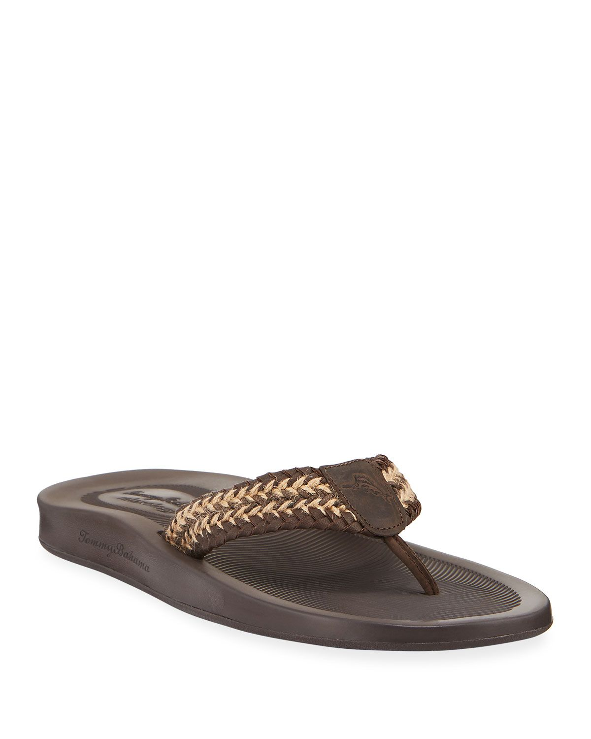 8d3e1c66447f8 TOMMY BAHAMA MEN'S ELIO SPRING LEATHER THONG SANDALS. #tommybahama #shoes