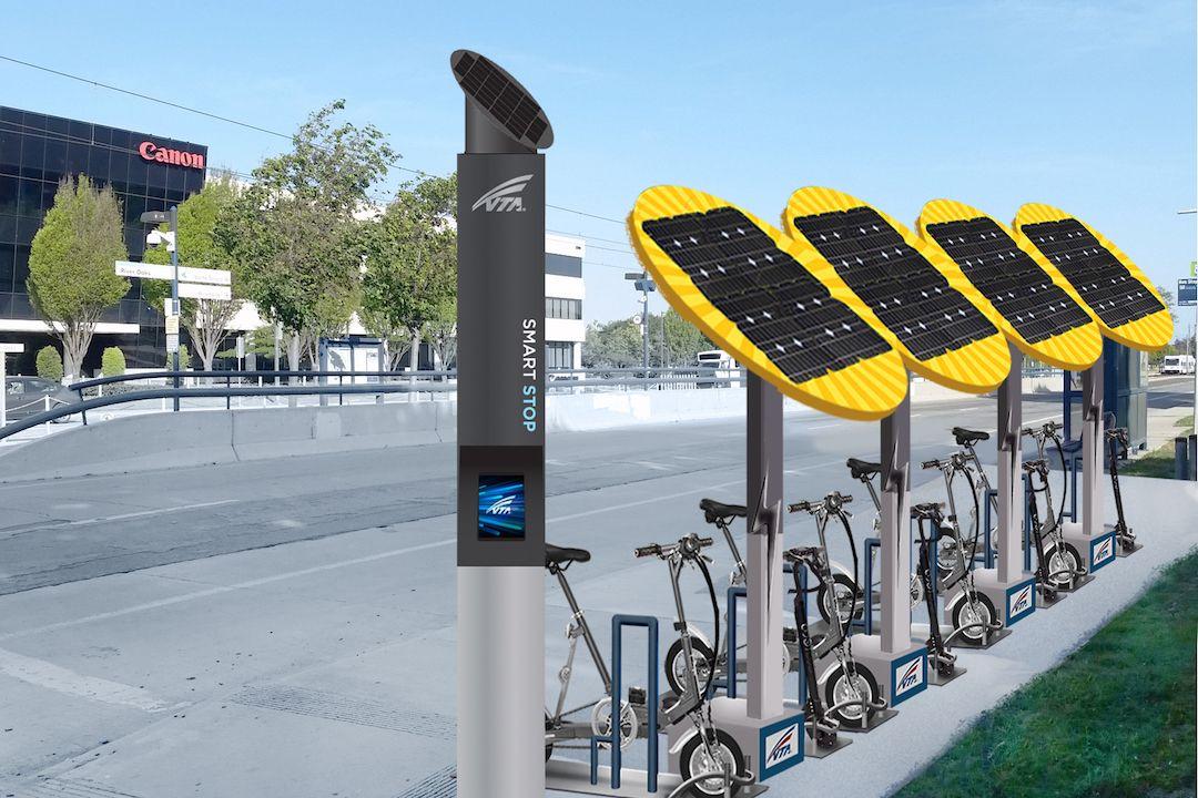 Swiftmile Electric Bike Electric Vehicle Charging Bicycle Parking