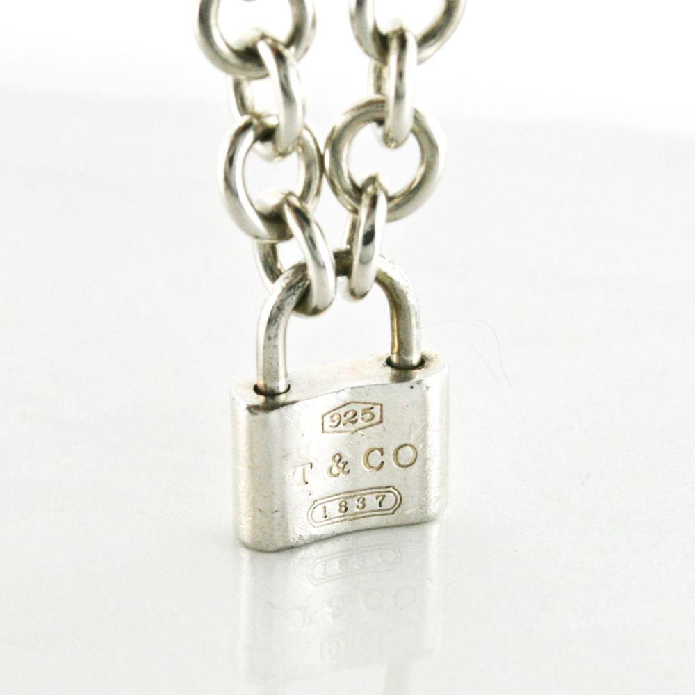 8e633a02544a9 Vintage Tiffany & Co. 1837 Padlock Lock Pendant Charm 16